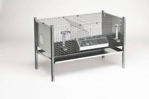 Клетки для кроликов двухсекционные без маточного домика