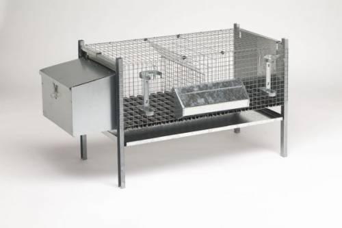 Клетки для кроликов двухсекционные с маточным домиком