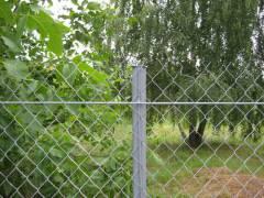 Заборная сетка рабица стальная